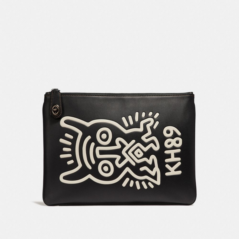 COACH X KEITH HARING TURNLOCK POUCH