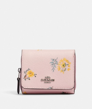 SMALL TRIFOLD WALLET WITH DANDELION FLORAL PRINT