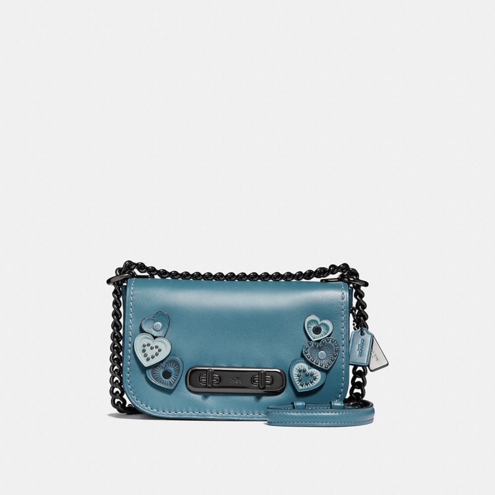 COACH SWAGGER SHOULDER BAG 20 WITH HEARTS