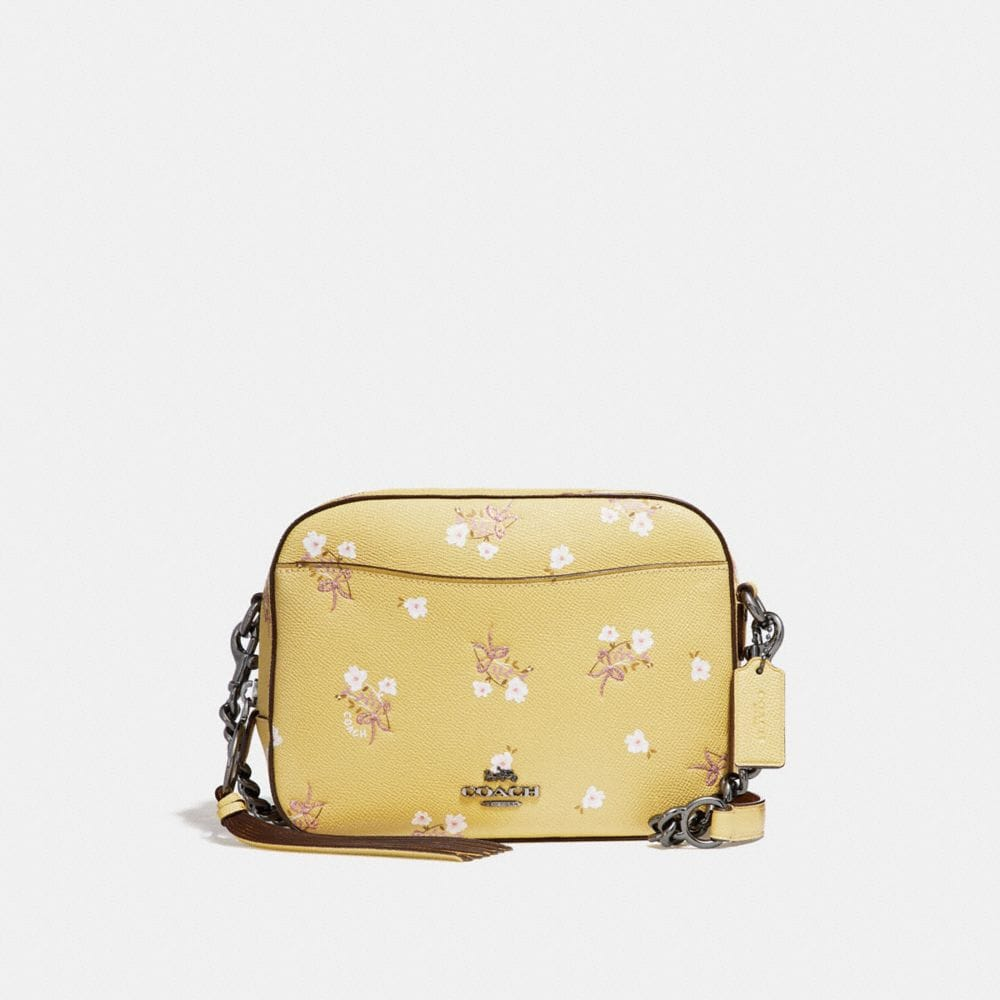 CAMERA BAG WITH FLORAL BOW PRINT