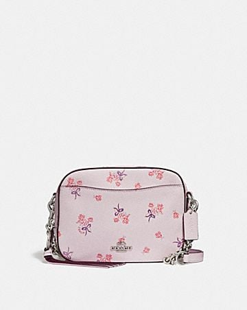Womens crossbody bags coach camera bag with floral bow print mightylinksfo
