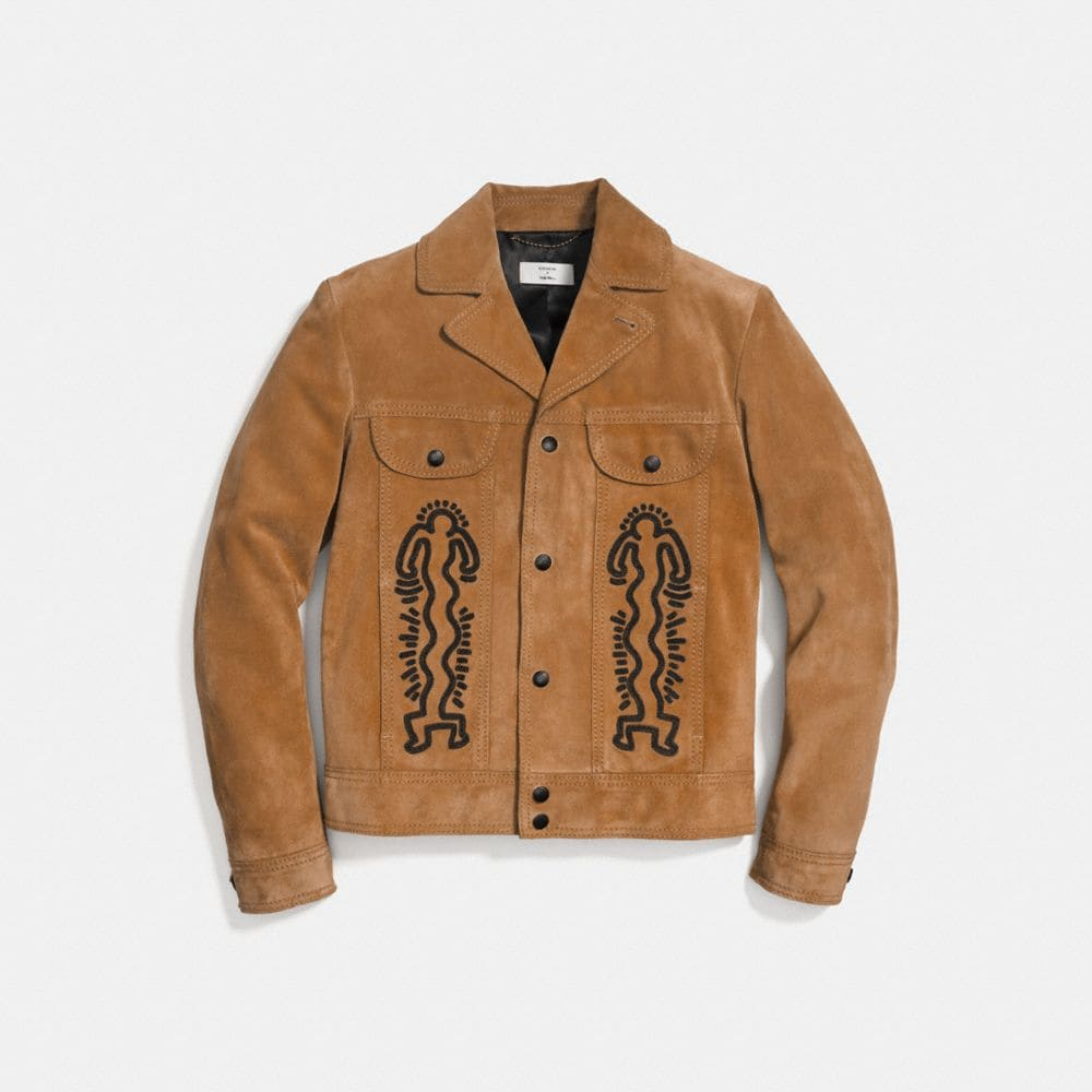 COACH X KEITH HARING SUEDE JACKET