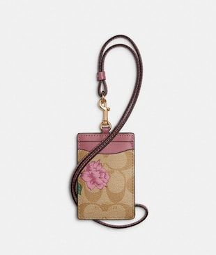 ID LANYARD IN SIGNATURE CANVAS WITH PRAIRIE ROSE PRINT