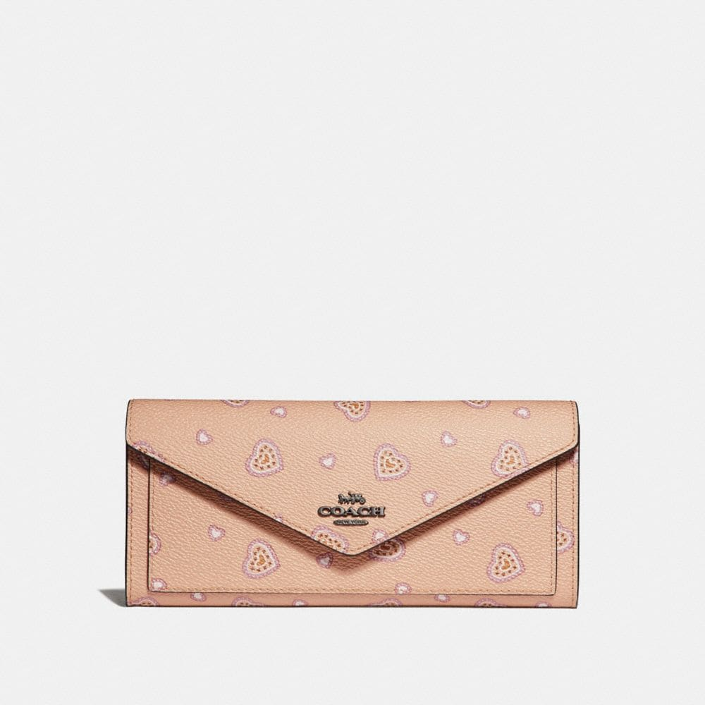 SOFT WALLET WITH WESTERN HEART PRINT