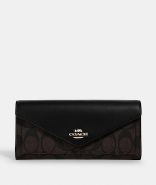 SLIM ENVELOPE WALLET IN SIGNATURE CANVAS