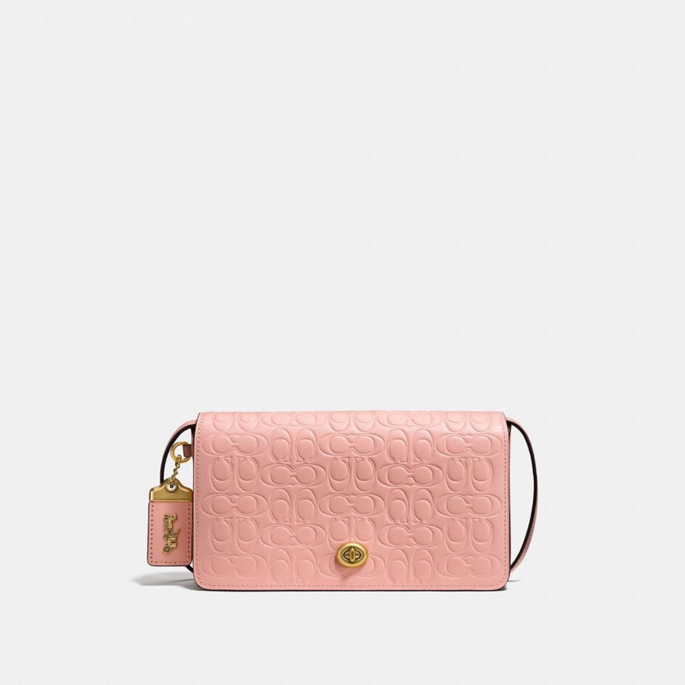 DINKY IN SIGNATURE LEATHER WITH FLORAL BOW PRINT INTERIOR