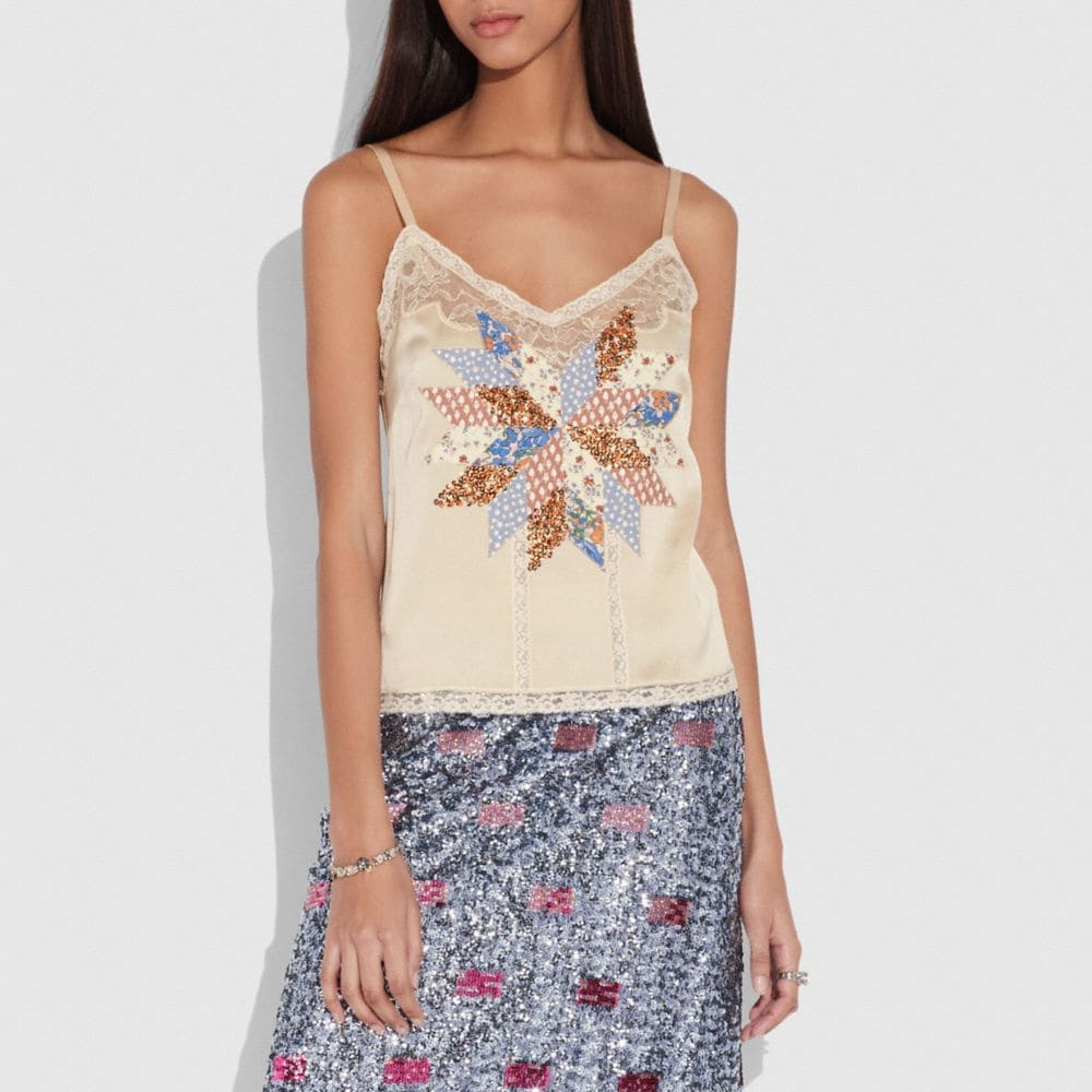 QUILTED PATCHWORK CAMISOLE
