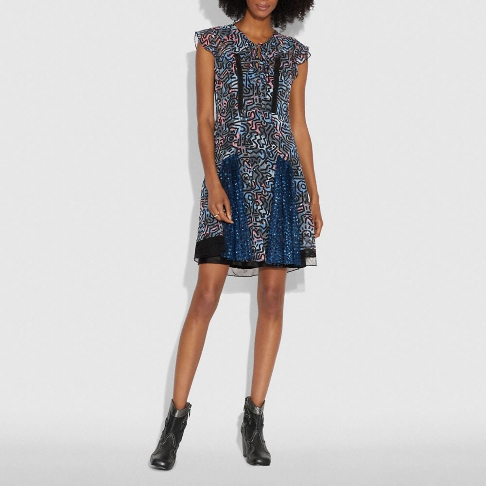COACH X KEITH HARING FRILLED DRESS