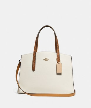 CHARLIE CARRYALL WITH COLORBLOCK SNAKESKIN DETAIL
