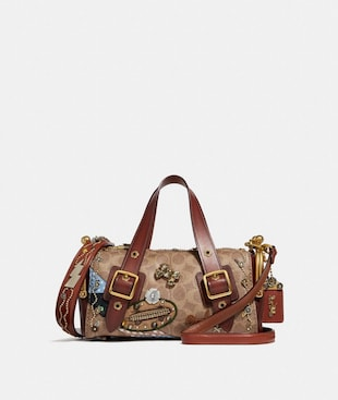 COACH X KEITH HARING MAILBOX BAG 24 IN SIGNATURE PATCHWORK