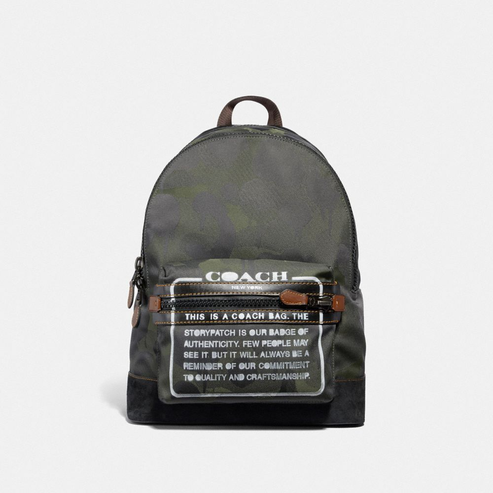 ACADEMY BACKPACK WITH WILD BEAST PRINT AND STORYPATCH