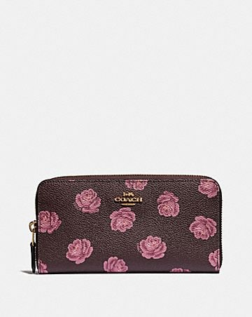 a70302027789 ACCORDION ZIP WALLET WITH ROSE PRINT ...
