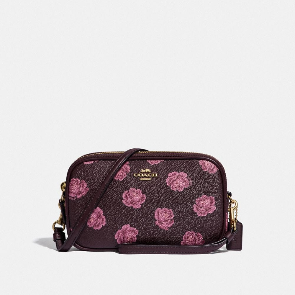 SADIE CROSSBODY CLUTCH WITH ROSE PRINT