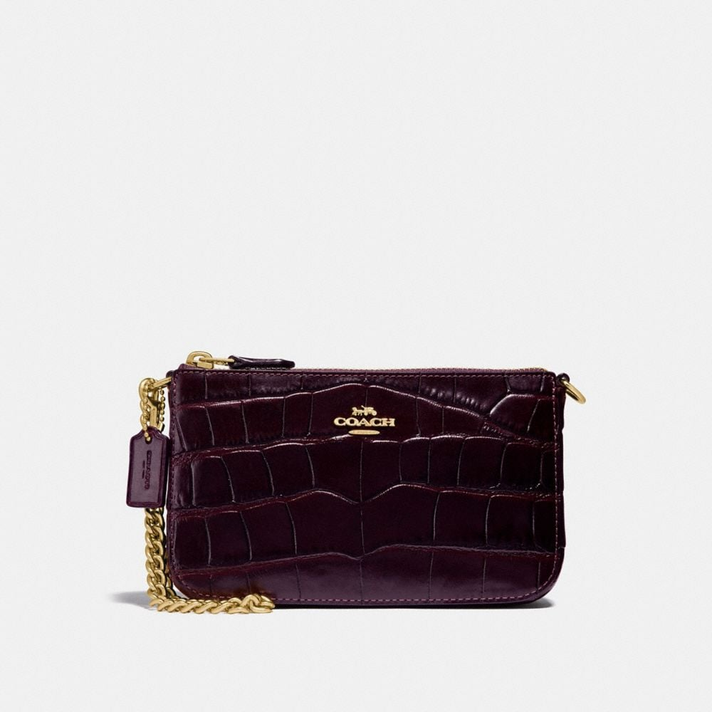 NOLITA WRISTLET 19 IN CROCODILE EMBOSSED LEATHER