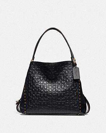 76e1acabef74e EDIE SHOULDER BAG 31 IN SIGNATURE LEATHER WITH RIVETS