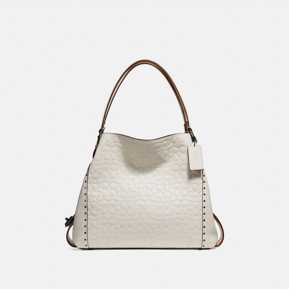 EDIE SHOULDER BAG 31 IN SIGNATURE LEATHER WITH BORDER RIVETS