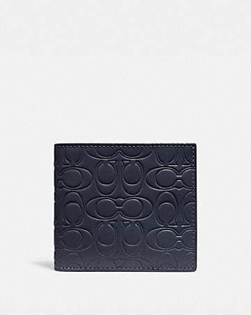 DOUBLE BILLFOLD WALLET IN SIGNATURE LEATHER