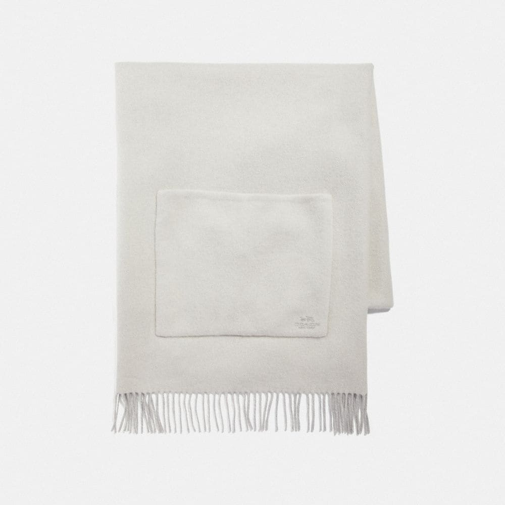 OVERSIZED REVERSIBLE SOLID CASHMERE MUFFLER