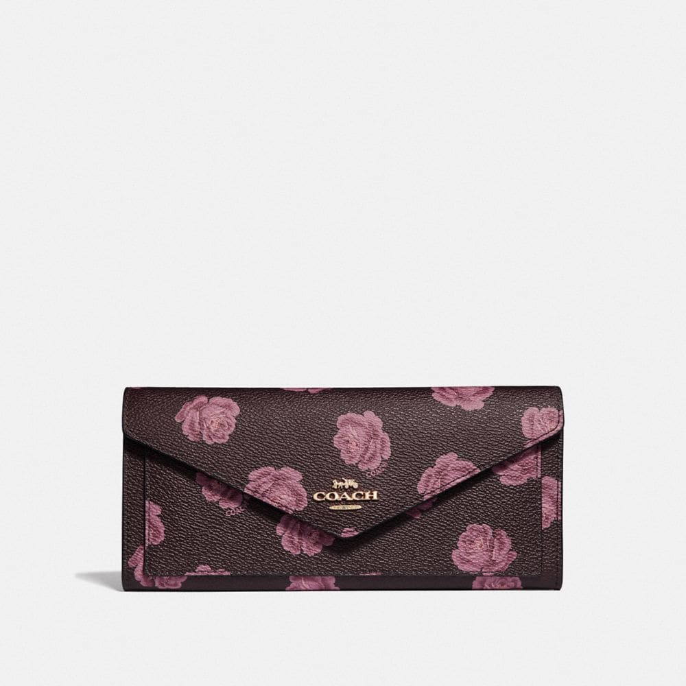 SOFT WALLET WITH ROSE PRINT