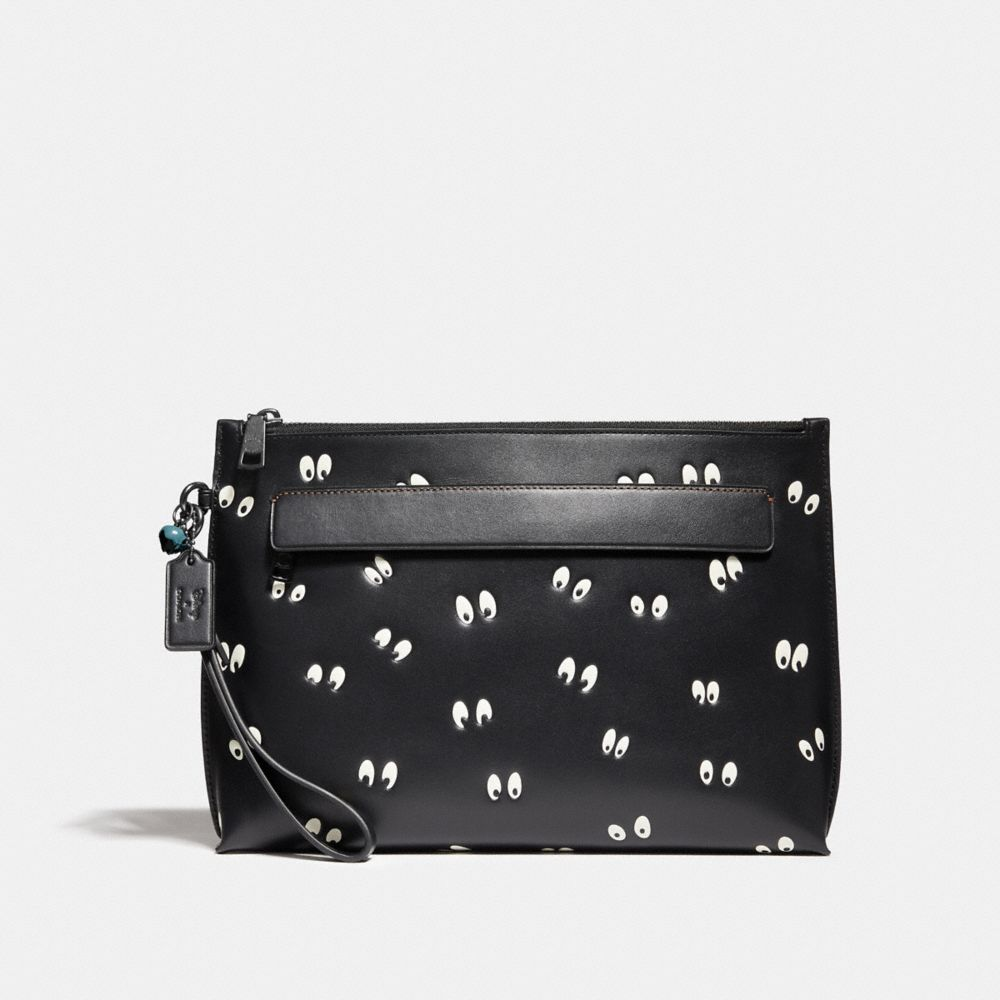 DISNEY X COACH CARRYALL POUCH WITH SPOOKY EYES PRINT