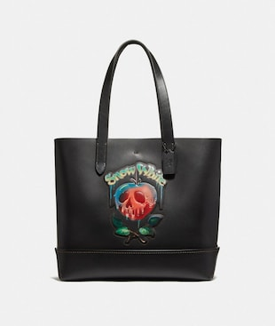 DISNEY X COACH GOTHAM TOTE WITH POISON APPLE GRAPHIC