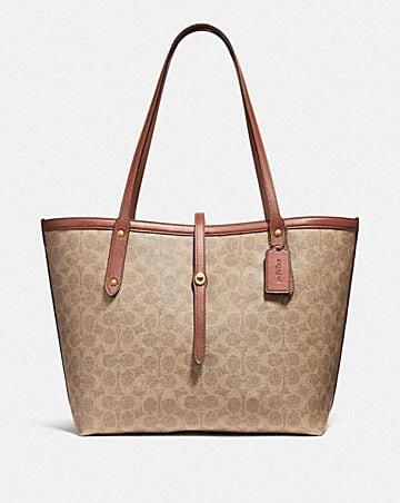 8371addf09aa MARKET TOTE IN SIGNATURE CANVAS ...