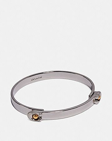 SCULPTED SIGNATURE TENSION HINGED BANGLE