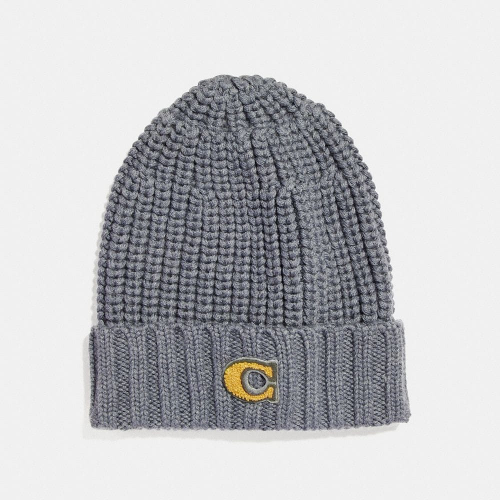 C PATCH KNIT BEANIE
