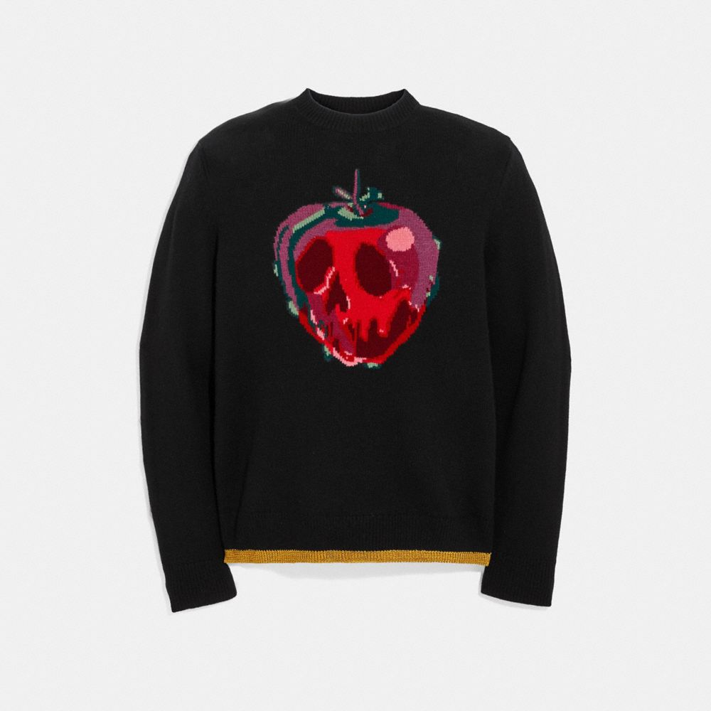 DISNEY X COACH POISON APPLE INTARSIA SWEATER