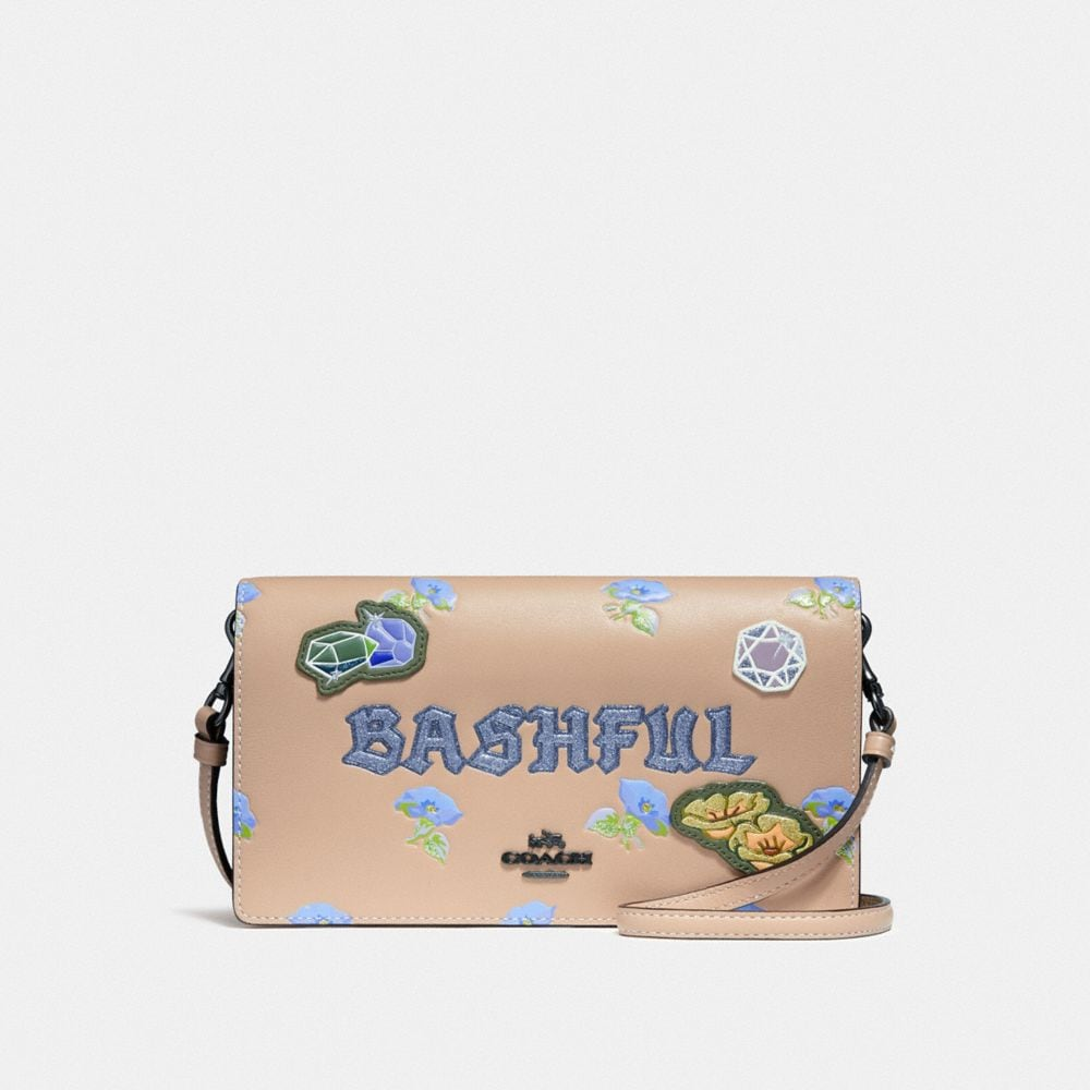 DISNEY X COACH BASHFUL FOLDOVER CROSSBODY CLUTCH
