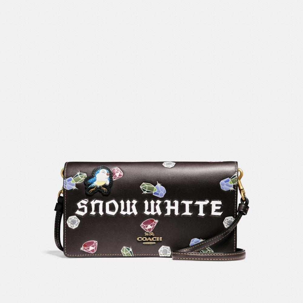 DISNEY X COACH SNOW WHITE FOLDOVER CROSSBODY CLUTCH