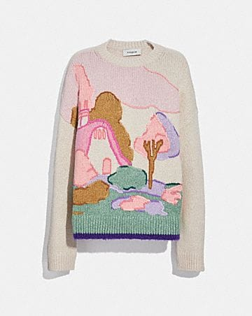 SPOOKY COTTAGE OVERSIZED SWEATER