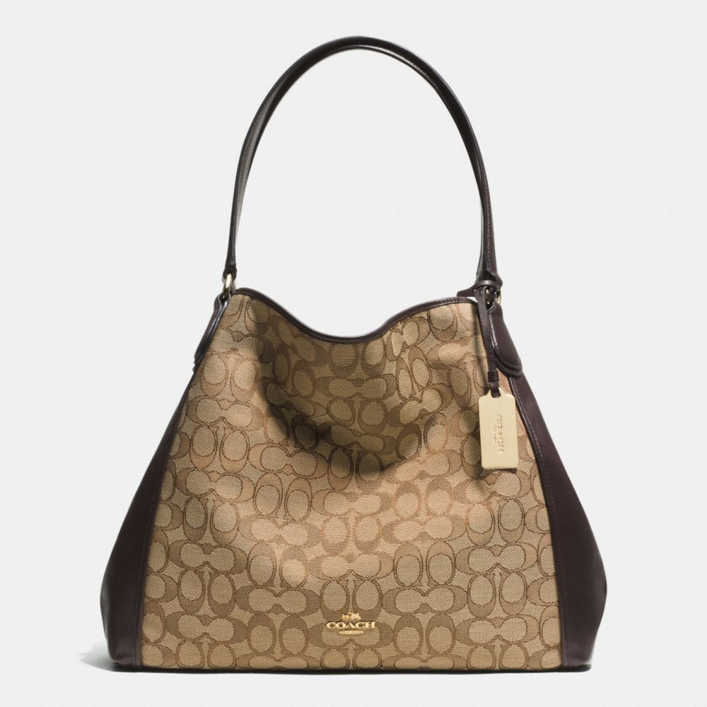 EDIE SHOULDER BAG IN SIGNATURE JACQUARD