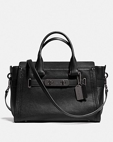 Coach Swagger Carryall In Pebble Leather