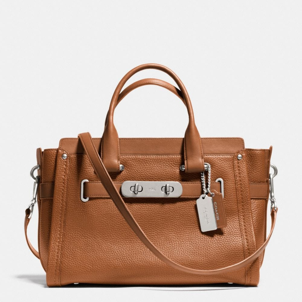 COACH SWAGGER IN PEBBLE LEATHER