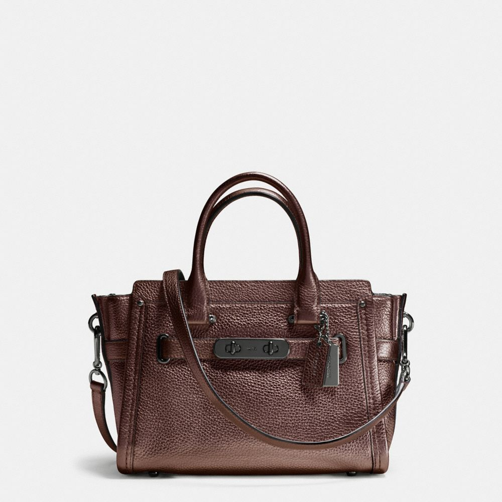 COACH SWAGGER CARRYALL 27 IN PEBBLE LEATHER