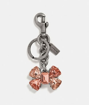 CRYSTAL BOW BAG CHARM
