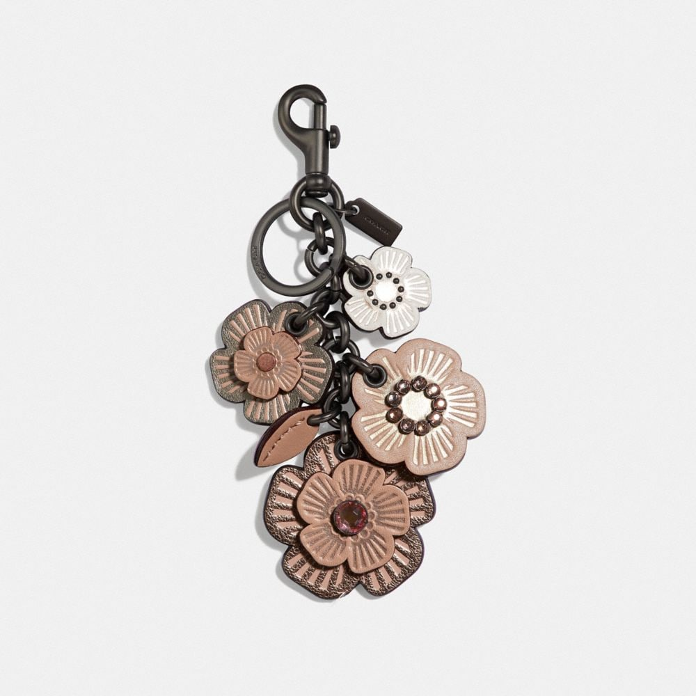 CRYSTAL TEA ROSE MIX BAG CHARM