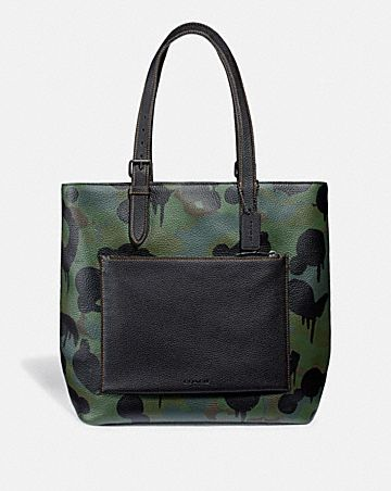 METROPOLITAN SOFT TOTE WITH WILD BEAST PRINT