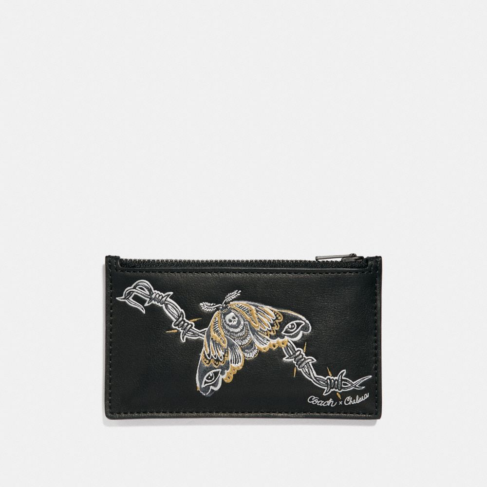 ZIP CARD CASE WITH TATTOO