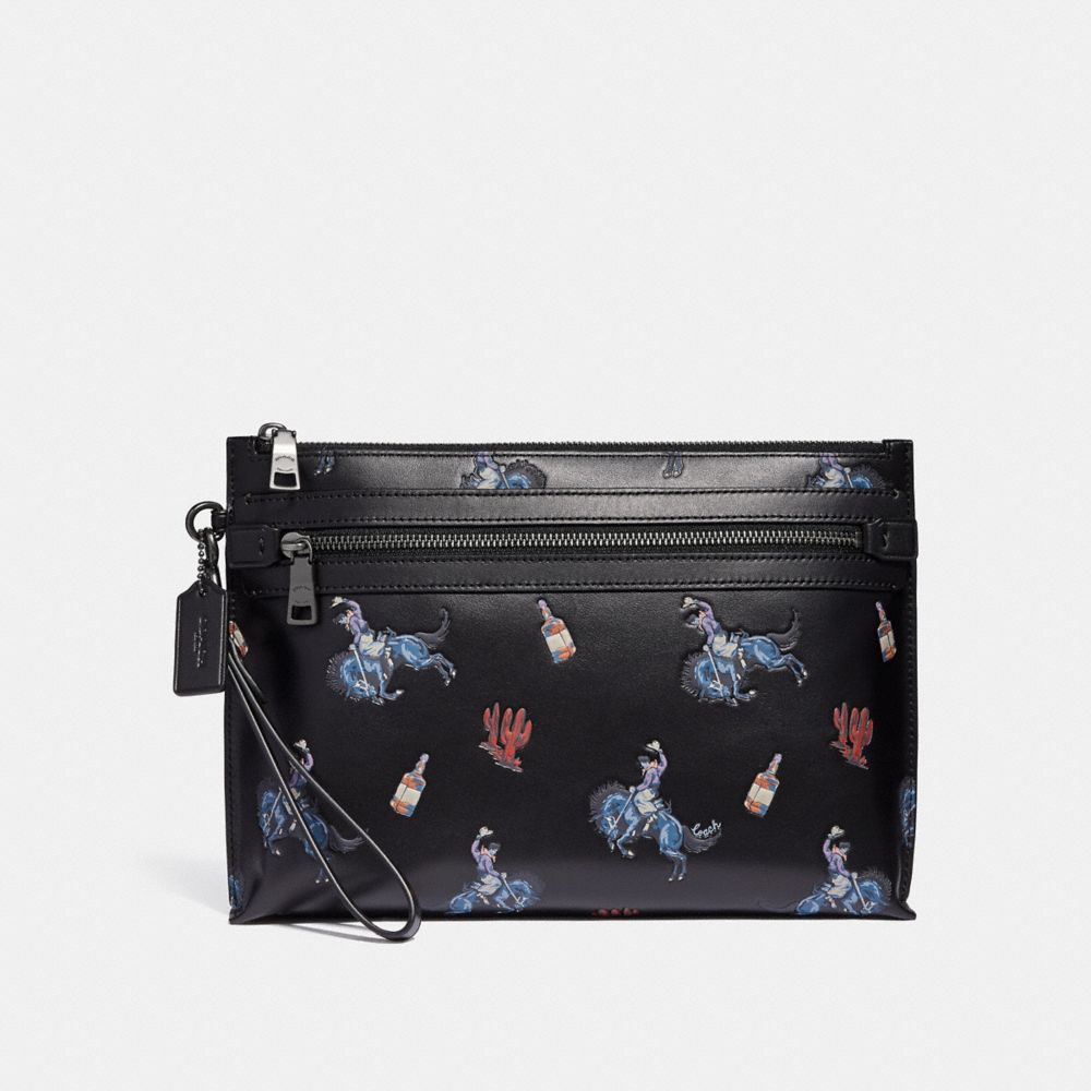 ACADEMY POUCH WITH RODEO PRINT