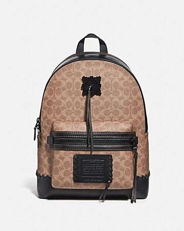 ecd4331b2c4f ACADEMY BACKPACK IN SIGNATURE CANVAS WITH WHIPSTITCH ...