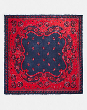 WESTERN ROSE BANDANA OVERSIZED SQUARE