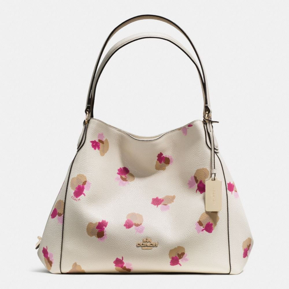 EDIE SHOULDER BAG 31 IN FLORAL PRINT LEATHER