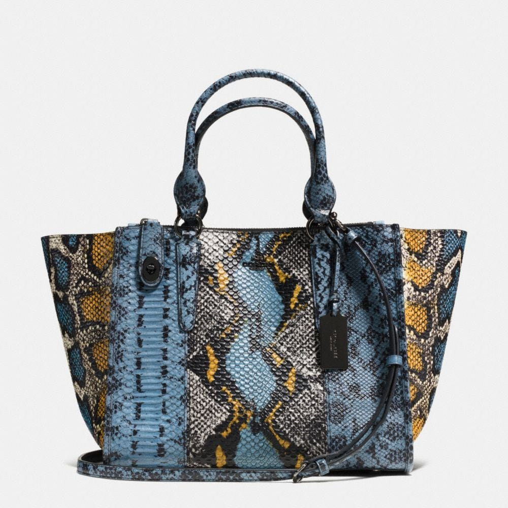 CROSBY CARRYALL IN PIECED EXOTIC EMBOSSED LEATHER