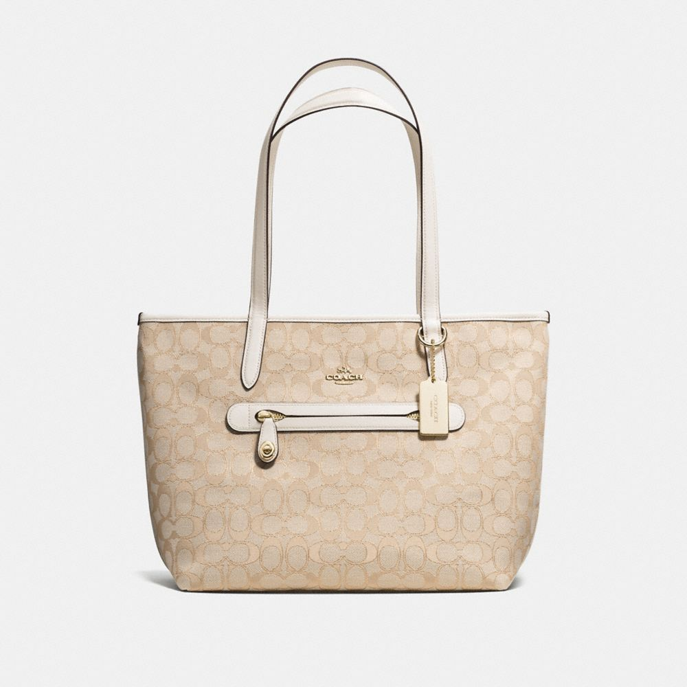 TAYLOR TOTE IN SIGNATURE JACQUARD