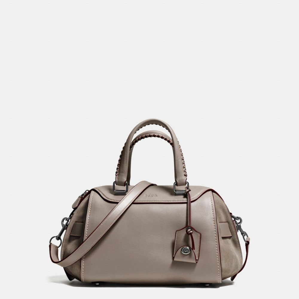 ACE SATCHEL IN GLOVETANNED LEATHER AND SUEDE