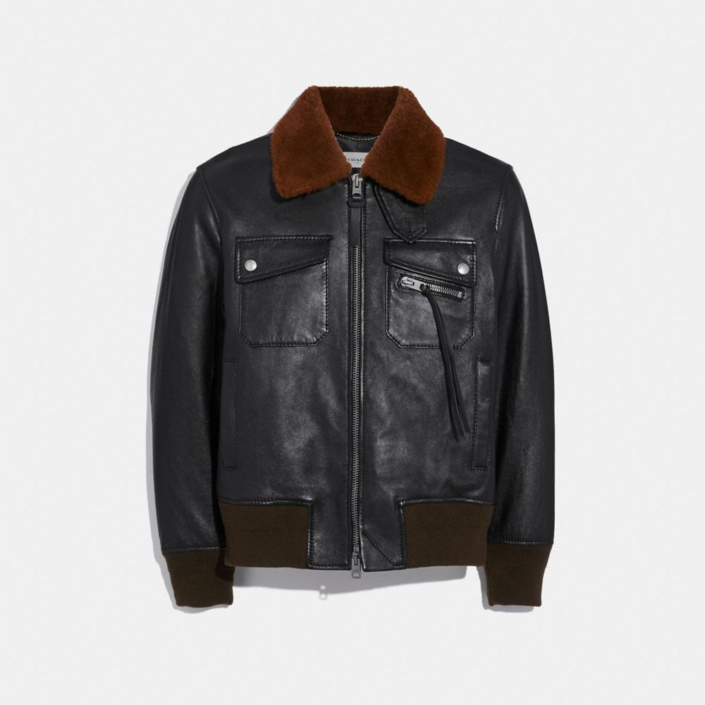 GIACCA BOMBER CON COLLETTO IN SHEARLING