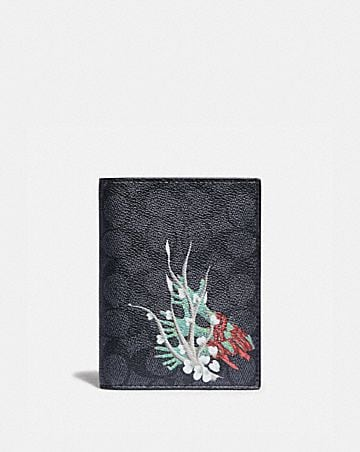 PASSPORT CASE IN SIGNATURE CANVAS BY GIANNI LEE