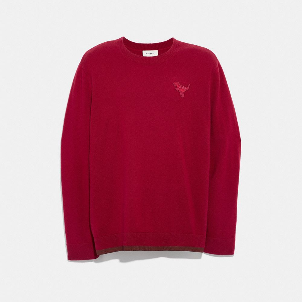 REXY PATCH CREWNECK SWEATER